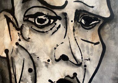Frank, 2020 | ink & watercolor on watercolor board | 50x65 cm
