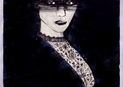 Lisa | acryl on paper | 50x65 cm | Ex frame: € 350,-